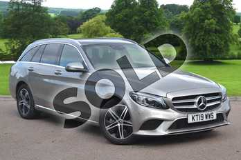 Mercedes-Benz C Class C220d Sport Premium Plus 5dr 9G-Tronic in Mojave Silver Metallic at Mercedes-Benz of Grimsby