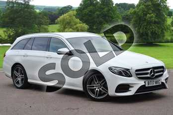 Mercedes-Benz E Class E220d AMG Line 5dr 9G-Tronic in Polar White at Mercedes-Benz of Grimsby