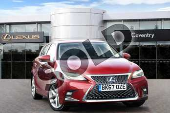 Lexus CT 200h 1.8 Premier 5dr CVT in Mesa Red at Lexus Coventry