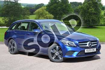 Mercedes-Benz C Class C200 Sport Premium 5dr 9G-Tronic in brilliant blue metallic at Mercedes-Benz of Grimsby