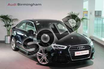 Audi A3 1.6 TDI S Line 4dr in Brilliant Black at Birmingham Audi
