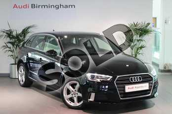 Audi A3 30 TFSI 116 Sport 5dr in Brilliant Black at Birmingham Audi