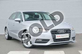 Audi A3 2.0 TDI Sport 5dr S Tronic in Floret Silver, metallic at Coventry Audi