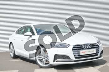 Audi A5 35 TDI S Line 5dr S Tronic in Ibis White at Coventry Audi