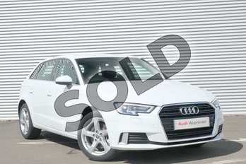 Audi A3 40 TFSI Sport 5dr S Tronic in Glacier White Metallic at Coventry Audi