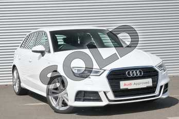 Audi A3 1.5 TFSI S Line 5dr in Ibis White at Coventry Audi