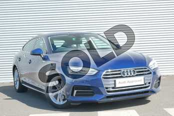 Audi A5 2.0 TDI 150 Sport 5dr in Scuba Blue Metallic at Coventry Audi