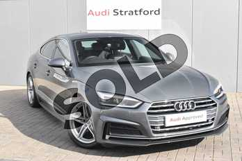 Audi A5 2.0 TFSI S Line 5dr S Tronic in Monsoon Grey Metallic at Stratford Audi
