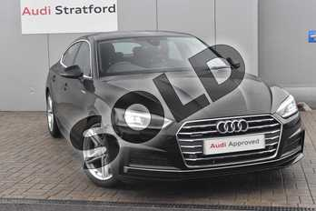 Audi A5 3.0 TDI 218 Quattro S Line 5dr S Tronic in Brilliant Black at Stratford Audi