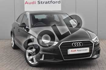 Audi A3 2.0 TDI Sport 4dr S Tronic in Brilliant Black at Stratford Audi