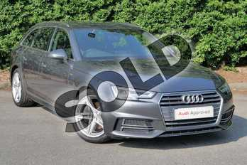 Audi A4 2.0 TDI 190 S Line 5dr in Daytona Grey Pearlescent at Worcester Audi