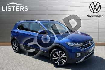 Volkswagen T-Cross 1.0 TSI 115 SE 5dr DSG in Reef Blue at Listers Volkswagen Stratford-upon-Avon