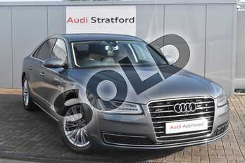Audi A8 3.0 TDI 262 Quattro SE Executive 4dr Tip Auto in Monsoon Grey Metallic at Stratford Audi