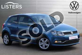 Volkswagen Polo 1.2 TSI Match Edition 3dr in Blue Silk at Listers Volkswagen Nuneaton