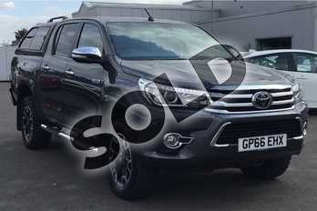 Toyota Hilux Invincible X D/Cab Pick Up 2.4 D-4D Auto in Grey at Listers Toyota Lincoln