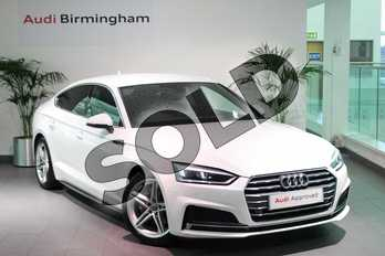 Audi A5 2.0 TDI Ultra S Line 5dr in Ibis White at Birmingham Audi