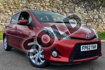 Toyota Yaris 1.5 VVT-i Hybrid T Spirit 5dr CVT in Burning Red at Listers Toyota Coventry