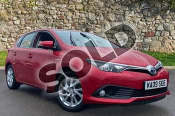 Toyota Auris 1.8 Hybrid Business Edition 5dr CVT in Red at Listers Toyota Coventry