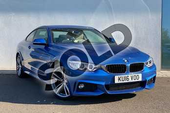BMW 4 Series 430d M Sport 2dr Auto (Professional Media) in Estoril Blue at Listers King's Lynn (BMW)