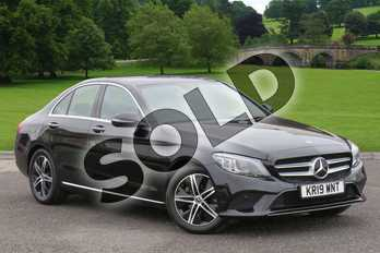 Mercedes-Benz C Class C220d Sport Premium Plus 4dr 9G-Tronic in obsidian black metallic at Mercedes-Benz of Lincoln