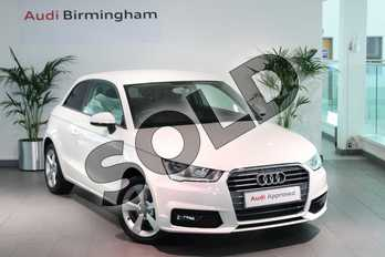 Audi A1 1.4 TFSI Sport 3dr in Shell White at Birmingham Audi