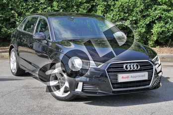 Audi A3 30 TFSI 116 Sport 5dr in Brilliant Black at Worcester Audi