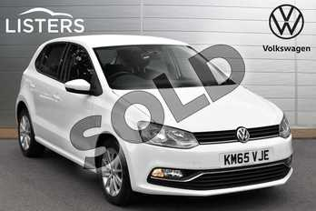 Volkswagen Polo 1.0 SE 5dr in Pure white at Listers Volkswagen Evesham