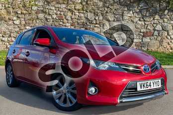 Toyota Auris 1.8 VVTi Hybrid Excel 5dr CVT Auto in Red at Listers Toyota Coventry