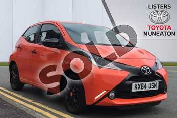 Toyota AYGO 1.0 VVT-i X-Cite 5dr in Orange at Listers Toyota Nuneaton