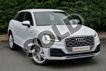 Audi Q2 1.6 TDI S Line 5dr in Glacier White Metallic at Worcester Audi
