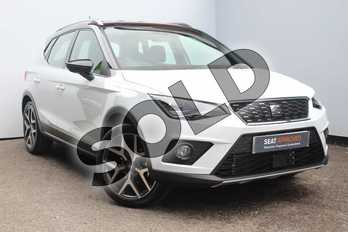 SEAT Arona 1.0 TSI 115 Xcellence Lux (EZ) 5dr DSG in White at Listers SEAT Worcester