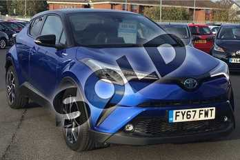 Toyota C-HR 1.8 Hybrid Dynamic 5dr CVT in Blue at Listers Toyota Lincoln