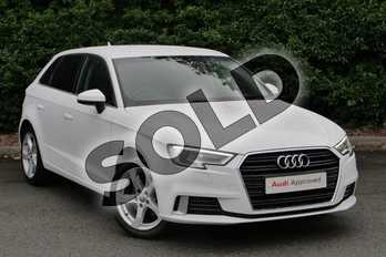 Audi A3 1.4 TFSI Sport 5dr in Ibis White at Worcester Audi