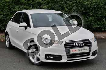 Audi A1 1.0 TFSI Sport 5dr in Shell White at Worcester Audi
