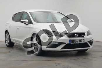 SEAT Leon 1.4 TSI 125 FR Technology 5dr in White at Listers SEAT Coventry