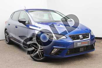 SEAT Ibiza 1.0 TSI 115 FR 5dr in Blue at Listers SEAT Worcester