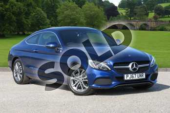 Mercedes-Benz C Class C 200 Sport Coupe in Brilliant Blue Metallic at Mercedes-Benz of Boston
