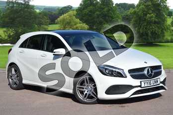Mercedes-Benz A Class A200d AMG Line Premium Plus 5dr Auto in Cirrus White at Mercedes-Benz of Grimsby