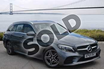 Mercedes-Benz C Class C220d AMG Line Premium 5dr 9G-Tronic in selenite grey metallic at Mercedes-Benz of Hull