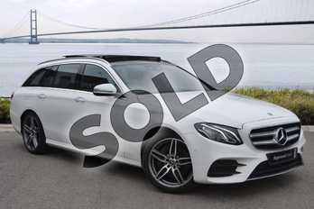 Mercedes-Benz E Class E220d AMG Line Premium 5dr 9G-Tronic in Polar White at Mercedes-Benz of Hull