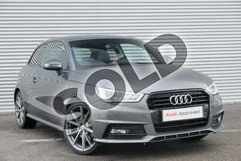 Audi A1 1.6 TDI Black Edition 3dr in Daytona Grey Pearlescent at Coventry Audi