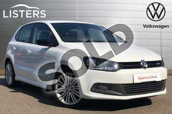 Volkswagen Polo 1.4 TSI ACT BlueGT 5dr in Pure white at Listers Volkswagen Coventry