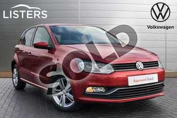 Volkswagen Polo 1.0 75 Match 5dr in Carmen Red at Listers Volkswagen Coventry