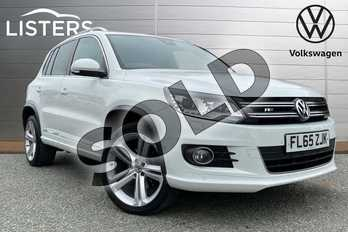 Volkswagen Tiguan 2.0 TDI BlueMotion Tech R Line 184 5dr DSG (NAV) in Pure White at Listers Volkswagen Loughborough