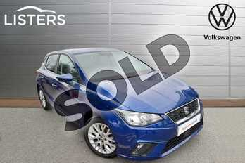 SEAT Ibiza 1.0 TSI 95 SE 5dr in Mystery Blue at Listers Volkswagen Worcester