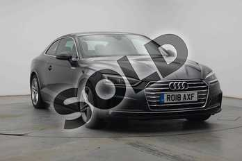 Audi A5 2.0 TDI Quattro S Line 2dr S Tronic in Moonlight Blue Metallic at Birmingham Audi