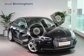 Audi A5 2.0 TFSI S Line 2dr in Myth Black Metallic at Birmingham Audi