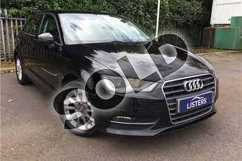 Audi A3 2.0 TDI Sport 5dr in Metallic - Mythos black at Listers U Solihull