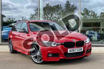BMW 3 Series 335d xDrive M Sport Shadow Edition 5dr Step Auto in Melbourne Red metallic at Listers King's Lynn (BMW)