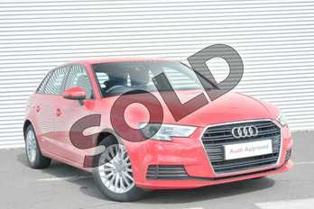 Audi A3 1.6 TDI SE Technik 5dr S Tronic in Tango Red Metallic at Coventry Audi